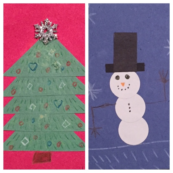 Holiday Shape Art