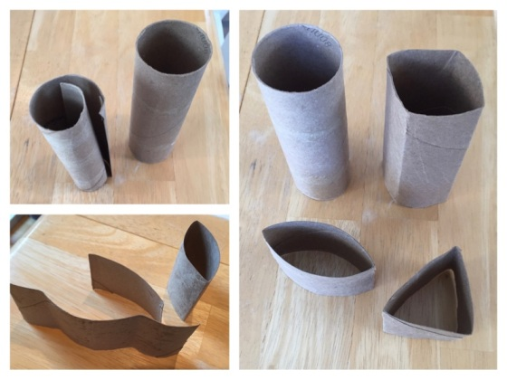 Cardboard Tube Shapes